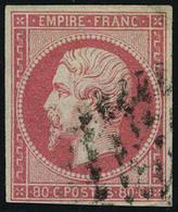 Oblitéré N° 17A + 17B, Les 2 Tirages Différents Du 80c Napoléon ND, T.B. - Stamps