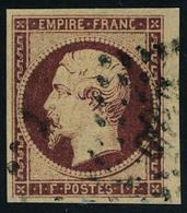 Oblitéré N° 18, 1f Carmin, Restauré, Aspect T.B. - Stamps