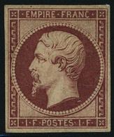 Neuf Sans Gomme N° 18d, 1f Carmin Réimpression, T.B. Signé Calves. - Stamps
