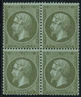 Neuf Sans Charnière N° 19, 1c Olive, Bloc De 4, T.B. - Stamps