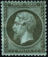 Neuf Avec Charnière N°19. 1c Olive. Forte Charnière. Bien Centré. T.B. - Stamps