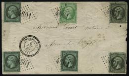 Lettre N° 19 X 5 + 20, Affranchissement Spectaculaire, Sur L. Los GC 4601 Et Càd Perlé Thérovanne (61) 9 Dec 69 Pour Air - Stamps