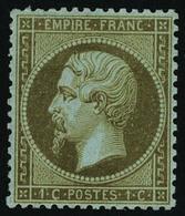 Neuf Avec Charnière N° 19b, 1c Mordoré Bien Centré, Cl, T.B. Signé - Stamps