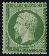 Neuf Avec Charnière N° 20, 5c Vert, Très Frais, T.B. - Stamps