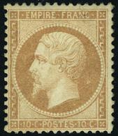 Neuf Avec Charnière N° 21. 10c Bistre, Cl, T.B. Signé Calves. - Stamps