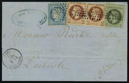 Lettre N° 25, 1c + 2 X 2c Lauré + 20 Siège, Tarif De Sept 71 à 25c De Dieulefit à L'Arbresle Thône, T.B. - Stamps