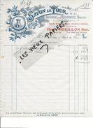 88 - Vosges - LE THILLOT - Facture HOUILLON - épicerie, Mercerie, Droguerie, Conserves Et Salaisons - 1912 - REF 84B - 1900 – 1949