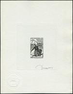 N° 1649, Jeux Mondiaux Des Handicapés, épreuve D'artiste En Noir Signée Decaris, T.B. - Stamps