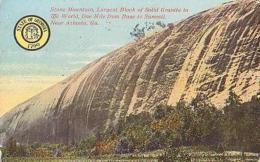USA        224        Atlanta.Stone Mountain Largest Block Of Solide Granite....... - Atlanta