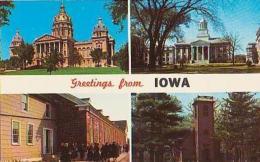 USA        275        Greetings From Iowa ( 4 Views ) - Etats-Unis