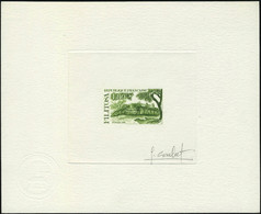 N° 2401, Monument Megalithique De Filitosa, épreuve D'artiste En Vert + Négatif, Les 2 Signées Combet TB - Stamps
