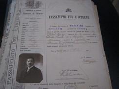PASSAPORTO PER L'INTERNO 1916 PROVINCIA DI GENOVA COMUNE DI CHIAVARI - Documents Historiques