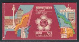 MH-MiNr. 7/3 16 D (1), 17 A (1) Weltfestspiele Der Jugend 1973, Gestempelt ZWICKAU 14.06.74, Top Erhaltung! - Markenheftchen