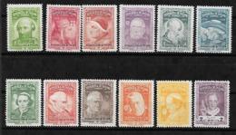PANAMA 1956 NOT ISSUED POPES SET MICHEL 487/498 MLH* RARE. - Panama