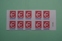 "FRANCE 1999  YT N° 3215   EC 002   Carnets     TIMBRES "" EURO "" 3Fr = 0.46€      Cote: 12.00€ - Neufs"