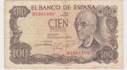 ESPAGNE 100 Pesetas 1970 P152a VF - [ 3] 1936-1975 : Regency Of Franco