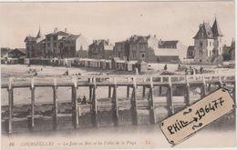 14 Courseulles-sur-Mer - Cpa / La Jetée De Bois Et Les Villas De La Plage. - Courseulles-sur-Mer