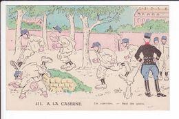 CP 411 - A LA CASERNE - Les Exercices - Saut Des Pistes - Humour