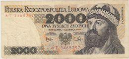 POLOGNE 2000 Zlotych 1979 P147b VF - Poland