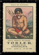 German Poster Stamps, Reklamemarke, Cinderellas, Race Of Nations, Nationen, South America, Botokude, Südamerika - Erinnofilia