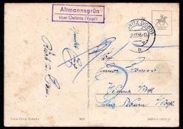 A2022 - Altmannsgrün über Oelsnitz Landpost Landpoststempel Mit Nachgebühr 1956 - DDR