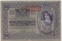 AUTRICHE 10000 Couronnes 1918 P64 VG+ - Autriche