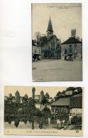 21 SEMUR 2 Cartes Automobile Place 1920 Et Lavandieres Bords Armancon 1918    /D03-2015 - Semur