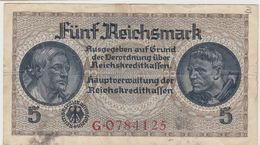 ALLEMAGNE 5 Marks 1940 R138 VG+ - [ 4] 1933-1945 : Troisième Reich