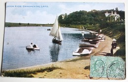 CPA Angleterre Ryde Ornamental Lake Isle Of Wight 1911 Timbres - Angleterre