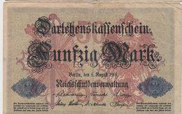 ALLEMAGNE 50 Marks 1914 P49b VG - [ 2] 1871-1918 : Empire Allemand