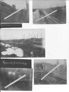 Flandres Flandern Canal De L'yser Fortifications Allemandes Abris Passerelles Pionier Bat.25 1ère Komp 5 Cartes Photos - War, Military