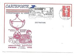 ENTIER BRIAT CHALLENGE PASTEUR à VOIRON ISERE 1992 - Postal Stamped Stationery