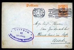 MOLENBEEK PAUWELS    - DUITSE CONTROLE STEMPEL 1916 - NAAR ASSE -  ZIE 2 AFBEELDINGEN - Asse