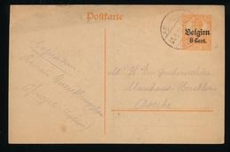 OPWIJK    - DUITSE CONTROLE STEMPEL 1917 - NAAR ASSE -  ZIE 2 AFBEELDINGEN - Asse