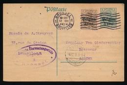 BRUXELLES A. STRUYVEN   - DUITSE CONTROLE STEMPEL 1916 - NAAR ASSE -  ZIE 2 AFBEELDINGEN - Asse