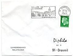 CHARENTE - Dépt N° 16 = CONFOLENS 1969 = FLAMME  Codée = SECAP Illustrée D'un PONT  'Vallée De La VIENNE ' - Marcophilie (Lettres)