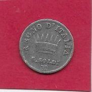 Italie - Napoléon - 5 Soldi - 1810 - Argent - Temporary Coins