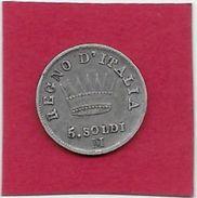 Italie - Napoléon - 5 Soldi - 1809 - Argent - Temporary Coins