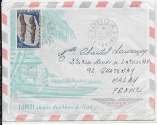 POLYNESIE - 1970 - LETTRE Par AVION De PAPEETE (TAHITI) => CHATENAY - Polynésie Française