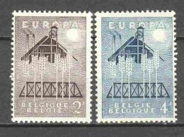 Belgium 1957 Mi 1070-1071 MNH EUROPA CEPT - Europa-CEPT