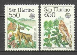 San Marino 1986 Mi 1339-1340 MNH EUROPA CEPT - 1986