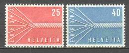 Switzerland 1957 Mi 646-647 MNH EUROPA CEPT - Europa-CEPT