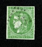 Superbe Cérès N° 42Ba (vert Foncé) Oblitéré - TTBE - Pas De Pli - Pas D'aminci - Cote 300,00 € - 1870 Bordeaux Printing