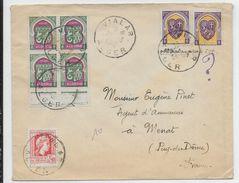 ALGERIE - 1948 - LETTRE De VIALAR => MENAT - Lettres & Documents
