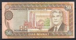 533-Turkmenistan Billet De 50 Manat 1993 AC990 - Turkménistan
