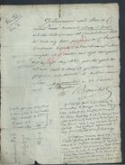 AN 6 BUSSY SAINT GEORGES X GUERMANTES ACTE DE RENTE 2 PAGES : - Manuscrits