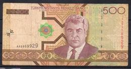 527-Turkmenistan Billet De 500 Manat 2005 AA595 - Turkménistan