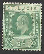 St. Lucia, 1/2 P. 1907,  Sc # 57, Mi # 47, MH.. - St.Lucia (...-1978)