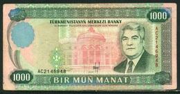 527-Turkmenistan Billet De 1000 Manat 1995 AC214 - Turkmenistan