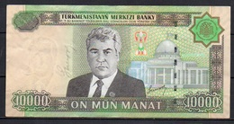 527-Turkmenistan Billet De 10 000 Manat 2005 AS800 - Turkménistan